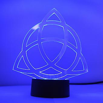 Triquetra Christian Trinity Knot Colour Changing LED Mini Acrylic Light