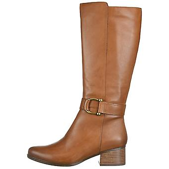 Naturalizer Womens Daelynn Leather Almond Toe Knee High Fashion Boots