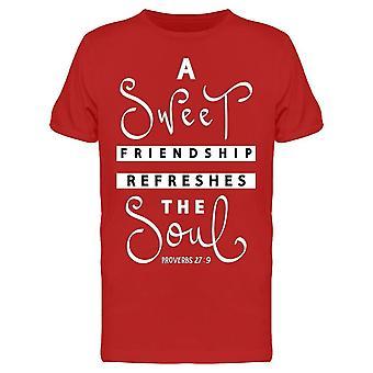 Ystävyys virkistää Soul Bible Tee Men's -Image Shutterstock