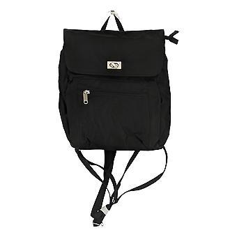 Magellan Women's Zip Pockets Nylon Shoulder Bag Black