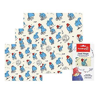 Paddington Bear Set Van 3 Diverse Bijenwas Wraps