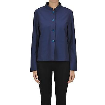 Minina Ezgl522002 Women's Blue Nylon Blazer