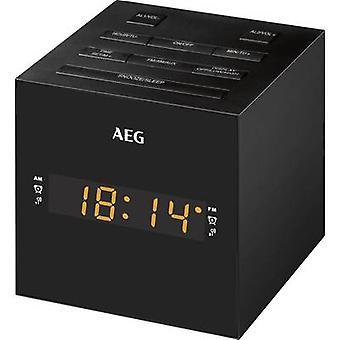 AEG MRC 4150 Rádiový budík FM USB Black