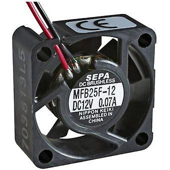 SEPA MFB25F12 Axial fan 12 V DC 4.2 m³/h (L x W x H) 25 x 25 x 10 mm