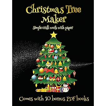 Simple craft work with paper (Christmas Tree Maker) - This book can be