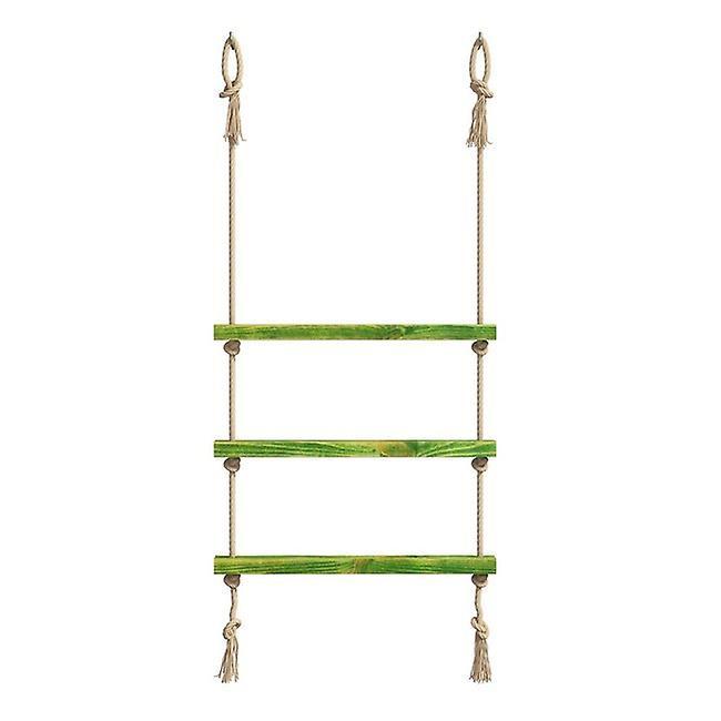 Mensola Halatli Colore Verde, Ecru in Legno, Juta, L75xP9xA125 cm
