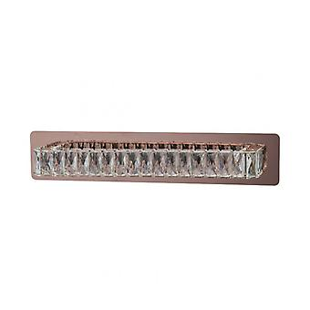 Wall Light Copper Crystal 1 Bulb 15 Cm