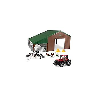 Britains Farm Building Set With Case Tractor  1:32   43137A1