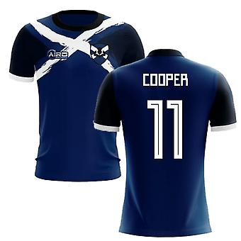 2020-2021 Scotland Flag Concept Football Shirt (Cooper 11)