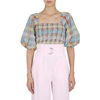 Ganni F4877999 Femmes-apos;s Multicolor Cotton Top