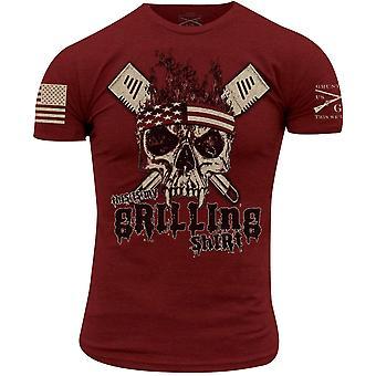 Grunt stil dette er min grilling skjorte t-skjorte - cardinal