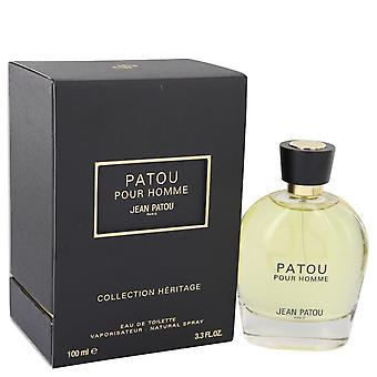 Patou Pour Homme Eau De Toilette Spray (Heritage Collection) By Jean Patou 3.4 oz Eau De Toilette Spray