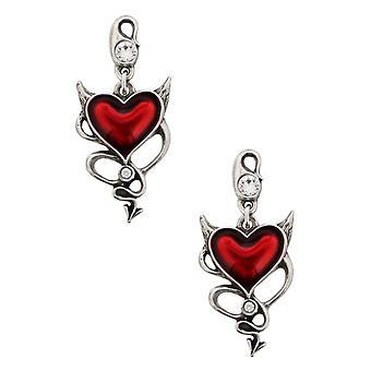 Alchemy - devil heart stud - earrings