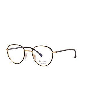 Paul Smith ALBION PSOP003V1 01 Black Ink On Gold Glasses