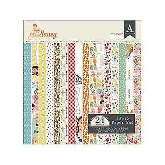 Authentique 12x12 Hârtie Pad Saucy