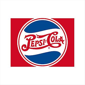 Pepsi Cola 1940 Wave Circle Logo Miesten's Collegepusero