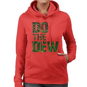 Mountain Dew Do The Dew Laser Women's Hooded Sweatshirt