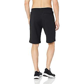 Peak Velocity Men's French Terry Fleece Loose-fit Short, black, Small