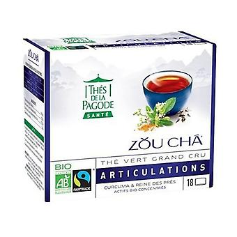 Zou Cha Bio Sencha Green Tea From China With Turmeric And Meadowsweet - Joints 18 infusion bags