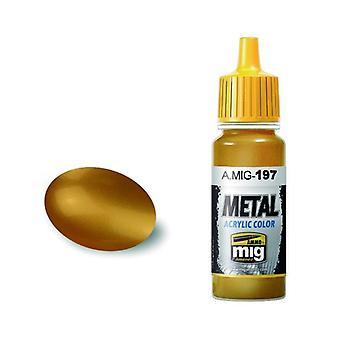 Ammo by Mig Acrylic Metallic Paint - A.MIG-0197 Brass (17ml)