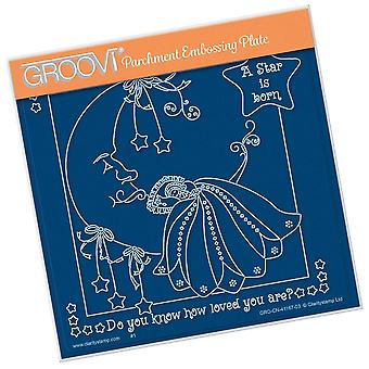 Groovi Linda's A Star is Born A5 Square Plate