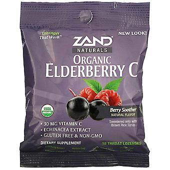 Zand, Organic Elderberry C, Berry Soother, 18 Throat Lozenges