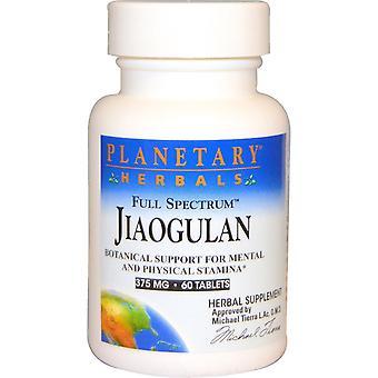 Planetary Herbals, Full Spectrum Jiaogulan, 375 mg, 60 Tablets