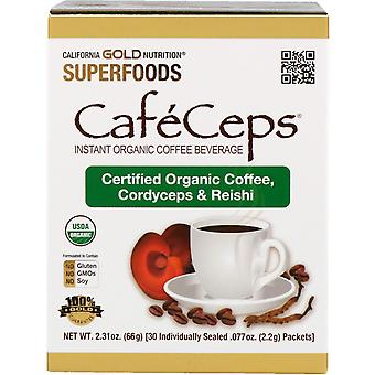 California Gold Nutrition, CafeCeps, Bio Instant Coffee mit Cordyceps und R