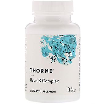 Thorne Research, Basic B Complex, 60 Capsules
