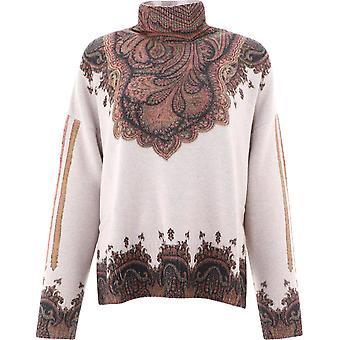 Etro 1943391730990 Women's Brown Wool Sweater