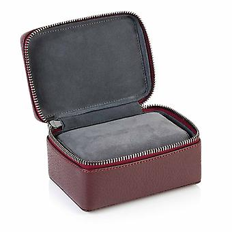Burgundy Richmond Leather Two Watch Box