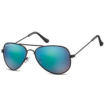 Sunglasses Unisex Aviator black/blue (MS94A)