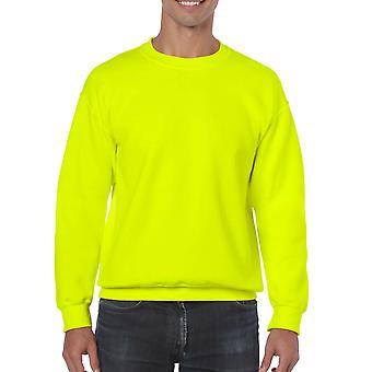 GILDAN G18000 Heavy Blend Sweatshirt in Safety Green