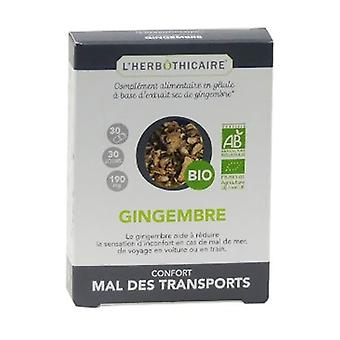 Organic ginger 30 capsules of 280mg
