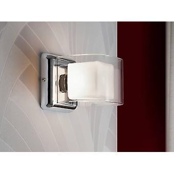 Schuller Cube - Væglampe Kromglas, G9