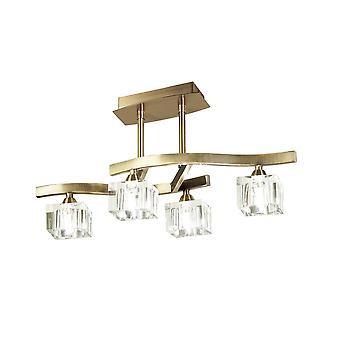 Inspireret Mantra - Cuadrax - Semi Flush Loft 4 Light G9, Antik Messing