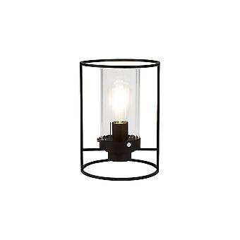 Luminosa Valaistus - Pöytävalaisin, 1 valo E27, Musta, Kirkas lasi