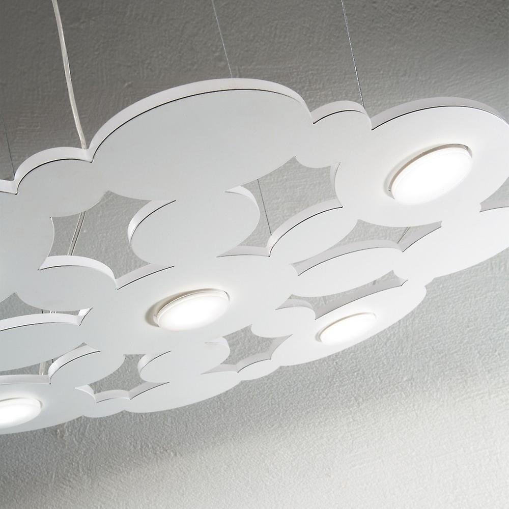 Ideal Lux Toronto - 5 Light Ceiling Pendant White