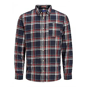 Jack & Jones Jeff Plaid Long Sleeve Shirt (rood/bossa Nova)