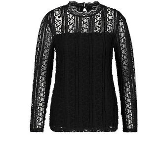 Taifun Preto Lace Top