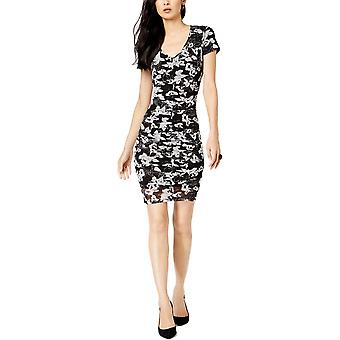 INC | Floral-Print Ruched Dress