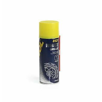 Mannol High Performance White Lithuim Grease 450ml Lubrication Spray Can Aerosol