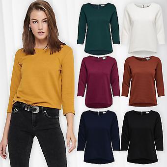 Women Shirt Short JDYSAGA 3/4 ZIP TOP JRS NOOS Clarissa Autumn Fashion Casual