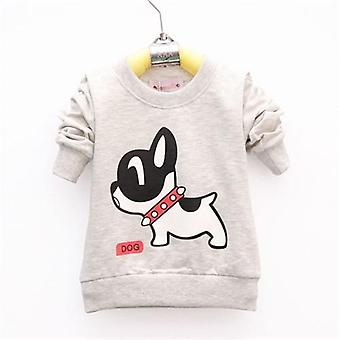 Cotton Dog Pattern, Long Sleeve Baby T-shirt