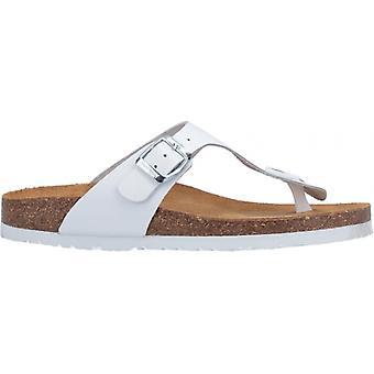 Hush Puppies Kayla Ladies Leather Toe Post Sandals White
