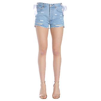 Forte Couture Fc1ss1874dnmwht Women's Light Blue Cotton Shorts