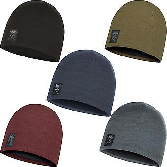 Buff Unisex Solid Fine Knit Knitted Warm Winter Fleece Lined Beanie Skull Hat