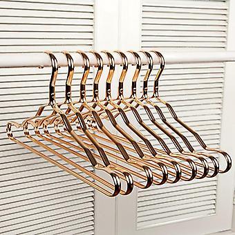 10Pcs Aluminium Alloy Durable Anti-slip Clothes Rack Wardrobe Space Saver Metal Clothes Hangers Organizer Clothing Drying Rack