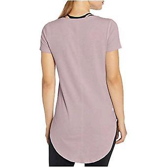 Core 10 Femmes-apos;s Pima Cotton-Blend Short Sleeve Yoga Tunique, Pétale, X-Large