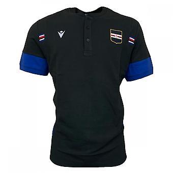 2020-2021 סמפדוריה נסיעות כותנה פולו חולצה (שחור)